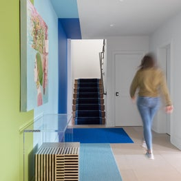 Colorful Hallway Modeled After Houston's Sugar & Cloth Wall