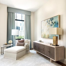 Modern Master Bedroom Seating Area with Neutral Palette