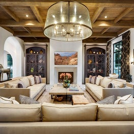 Spanish Colonial Equestrian Estate, custom cabinets furniture, window treatments