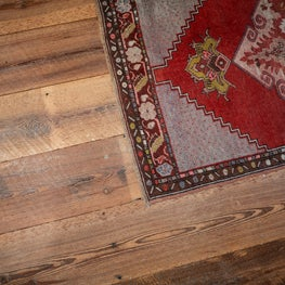 Private Residence. Reclaimed Wide Plank, Saw Kerf Pine Flooring