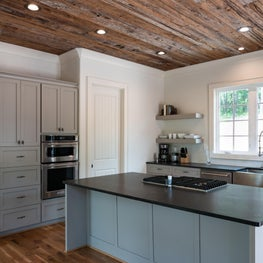 Luxury Hunting Cabin, Mushroom Wood Ceiling, White Oak Flooring