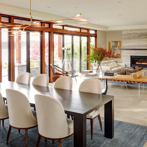 Contemporary Living Room/Dining Room by Hyde Evans Design