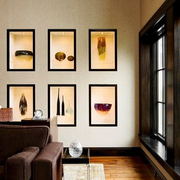 Art Glass Display in a Modern Office