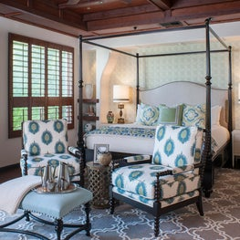 Spanish Style Master Bedroom with Canopy Bed