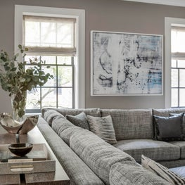 Monochromatic Textural Family Room