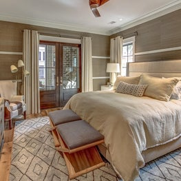 A relaxing & sophisticated getaway with neutral palette & natural fabrics