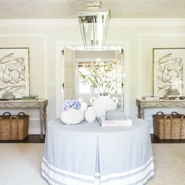 Fresh and Formal Entryway