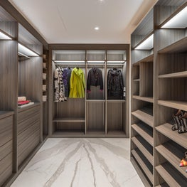 DZINE - Custom Porro Master Walk-In Closet in a San Francisco Home