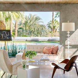Palm Springs Home - Living Room Vignette