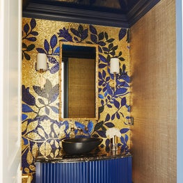 Blue & Bold Powder Room