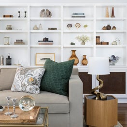 Living Room with Open Shelving