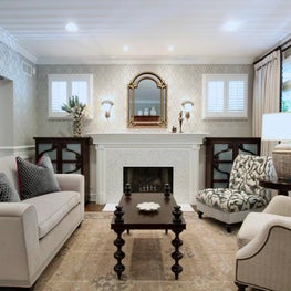 Chicago living room with soft, neutral colors