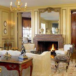 Lake Shore Drive Living Room & Fireplace