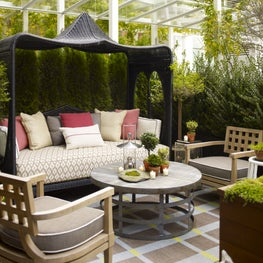 Downtown NYC Residence Outdoor Lounge