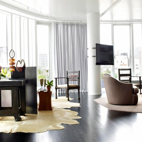 Bright, downtown hip living room