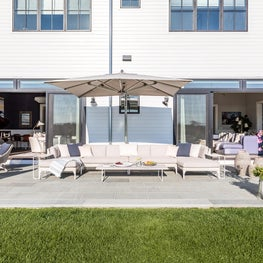 Hamptons outdoor patio and sectional