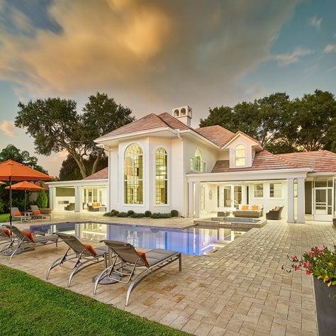 Lush Contemporary Poolside Luxury Backyard