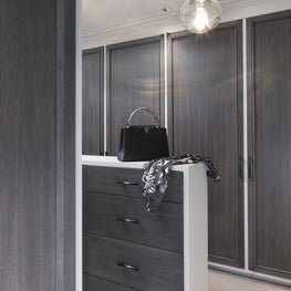 Detail of a Master Closet at a Presidio Heights Home