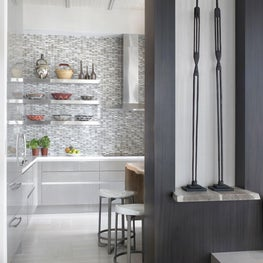 Modern ethnic kitchen with tribal accents