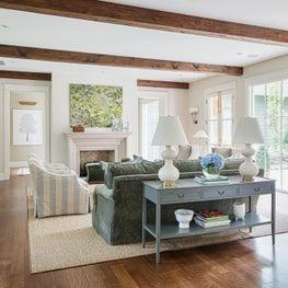 Classic Living Room with Open Floor Plan