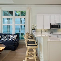 Florida Guest House Living Space by Diane Burgoyne Interiors