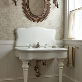Antique sink in coastal house.