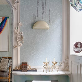 Traditional Home Holiday House Powder Room Detail View