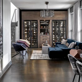 Chicago Lincoln Park Penthouse Residential Wine Room with custom wine storage