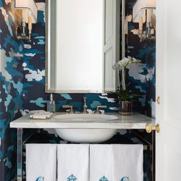 Contemporary home in Dallas, Bathroom featuring eclectic pieces