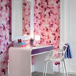 Childrens Bedroom, Wallpaper by Trove & Custom Desk