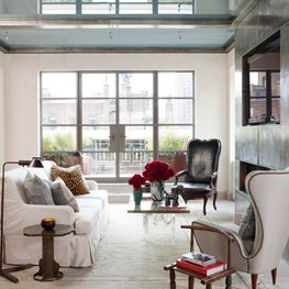 Upper East Side Penthouse with an eclectic mix of furniture.