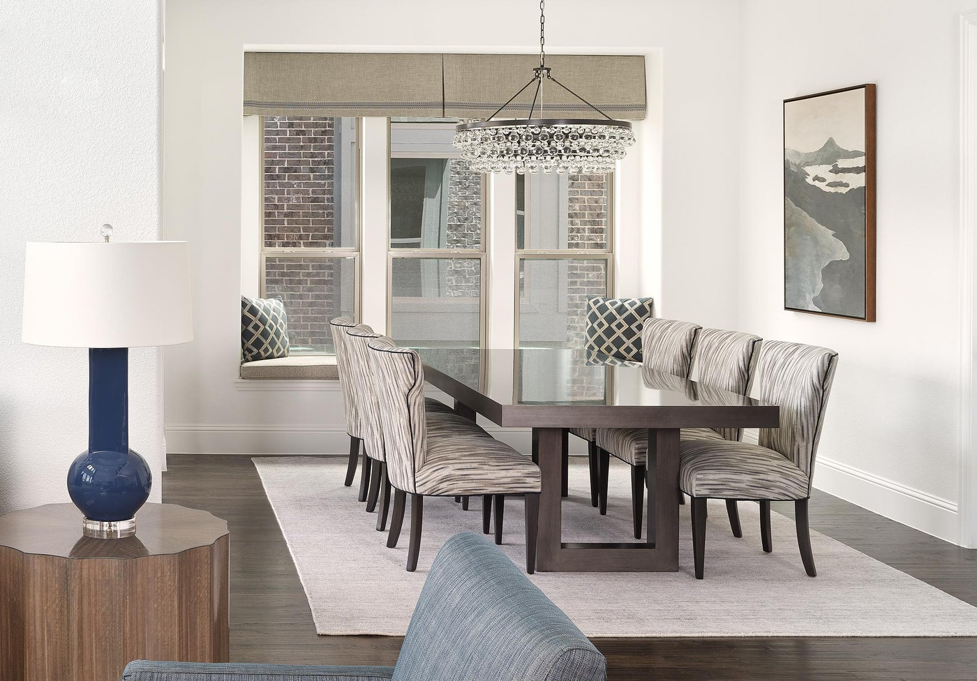 Frisco, TX Contemporary Dining Room with Asian Flair