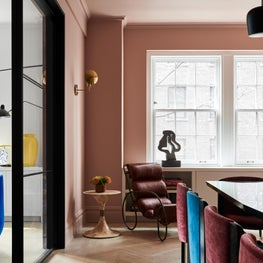 Space for lounging, reading, and coffee in a Park Ave dining room