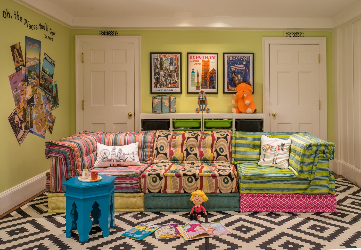 Colorful Children's Playroom in Beacon Hill