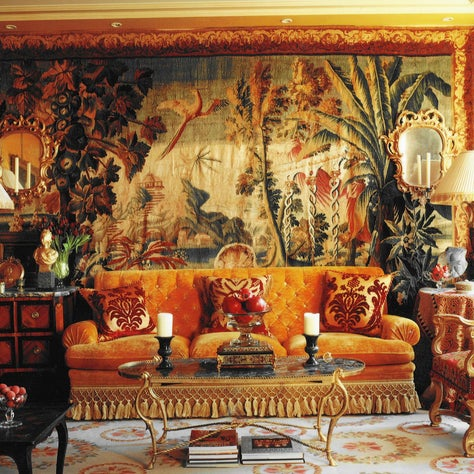 A sitting room in Paris embodies all that I love about colour, texture and scale