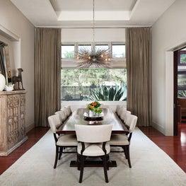 Transitional Dining Room - Lake Austin Residence, Austin, TX