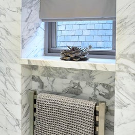 Park Avenue Apartment | His Bath Towel Warmer Niche