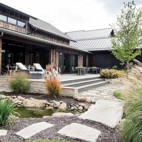 Modern Farmhouse Exterior Deck