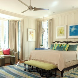 Sophisticated colorful Bedroom