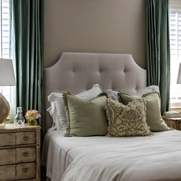 Briargrove Houston Guest Bedroom With Earth Tone Color Palette
