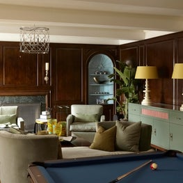 Sitting Room in New York City with a Billiards Table