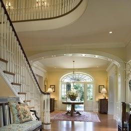 Foyer in New, Custom Georgian Home by Diane Burgoyne Interiors