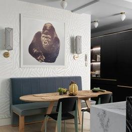 Playful breakfast area in a Park Avenue kitchen