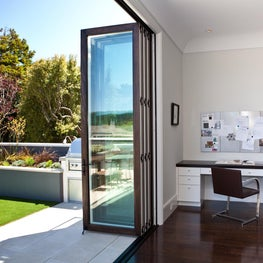 Great room with nano door onto exterior deck