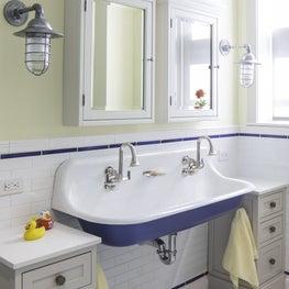 Upper West Side Apartment Kids Bath Sink