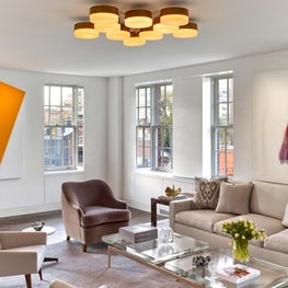 Living Room in West Village Pied-a-Terre