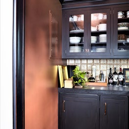 Butler's Pantry Feature Wall Done In Handpainted Ombre Glaze