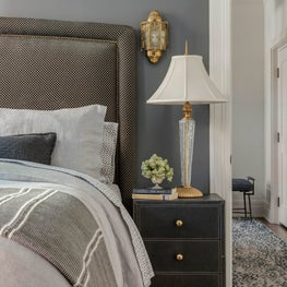 Dramatic Gray Eclectic Bedroom
