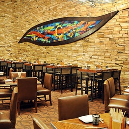 """Feast for the Eyes"" This enormous painting was created specifically for the beautiful main dining room for chef Hubert Keller's restaurant Fleur inside of Mandalay Bay, Las Vegas."