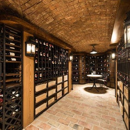 Wine Cellar and Tasting Room with Brick Groin Vaults